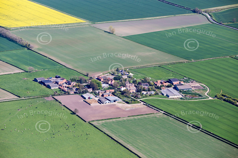 Tithby in Nottinghamshire from the air.