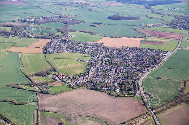 Aerial photo of Tollerton.