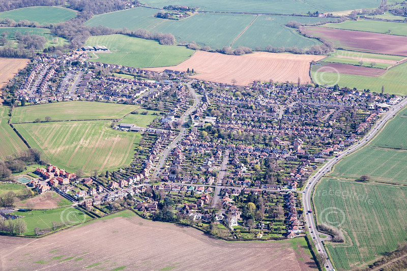Aerial photo of Tollerton.