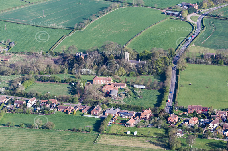 Aerial photo of Treswell.