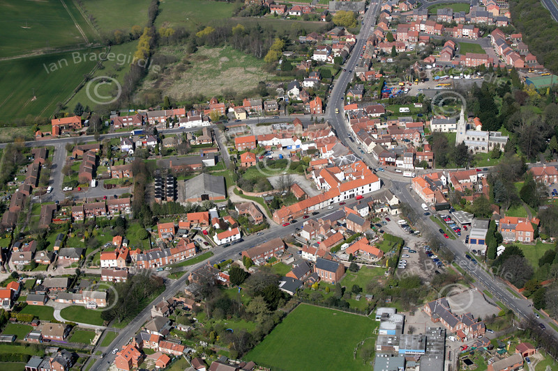 Aerial photo of Tuxford.