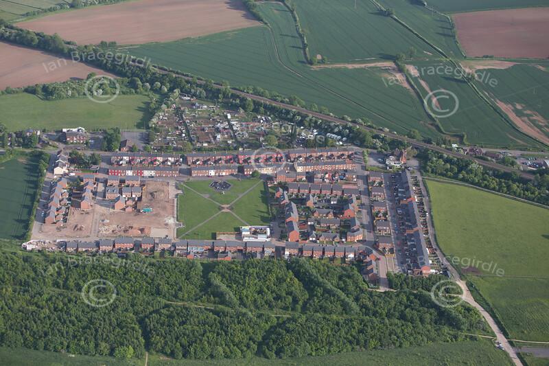 Aerial photo of Warsop Vale.