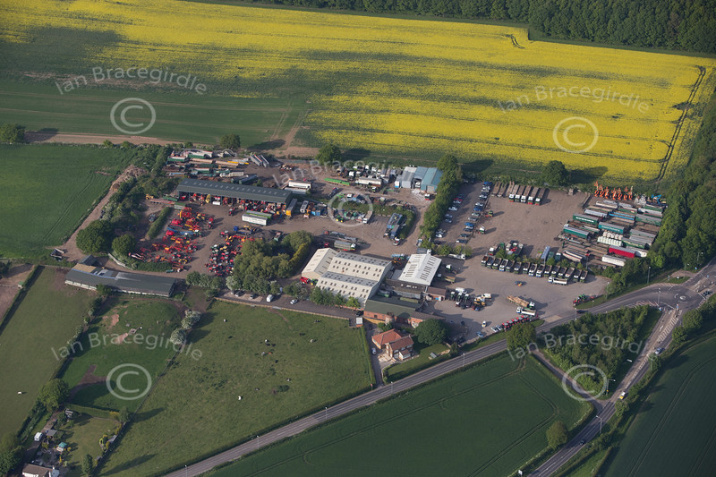 Aerial photo of Warsop.