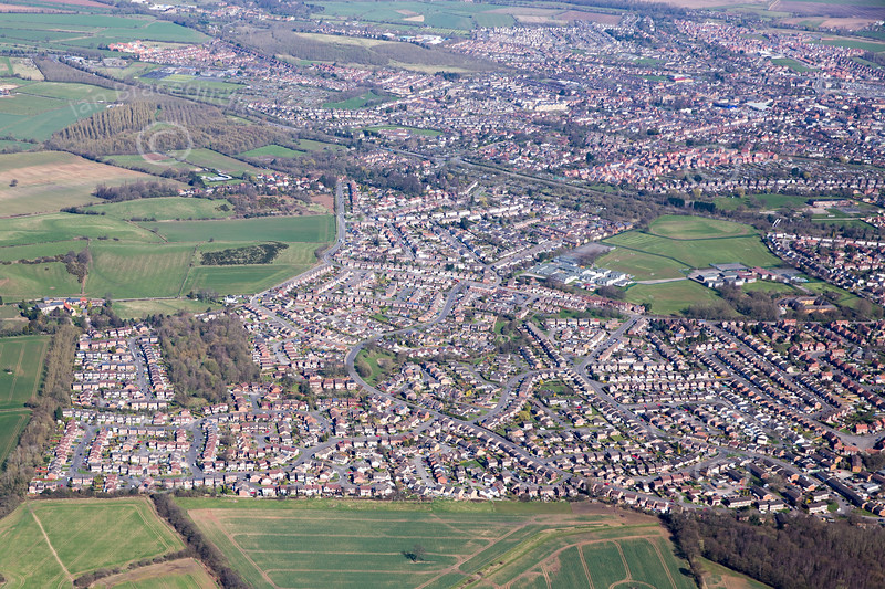 Aerial photo of Watnall.