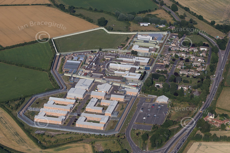An aerial photo of Whatton prison near Bingham in Nottinghamshire.
