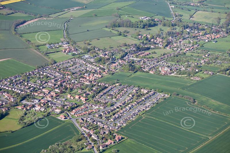 Aerial photo of Woodborough.