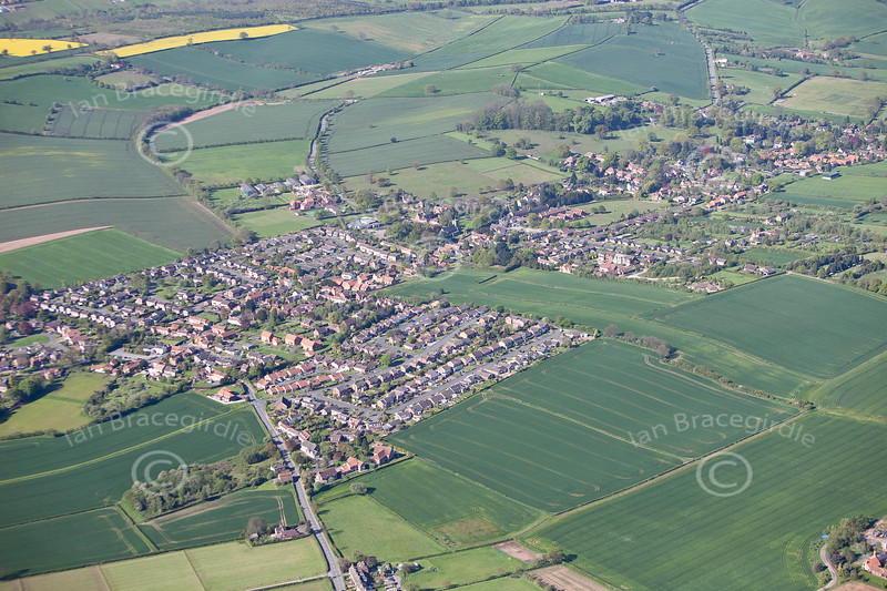 Aerial photo of Woodborough.