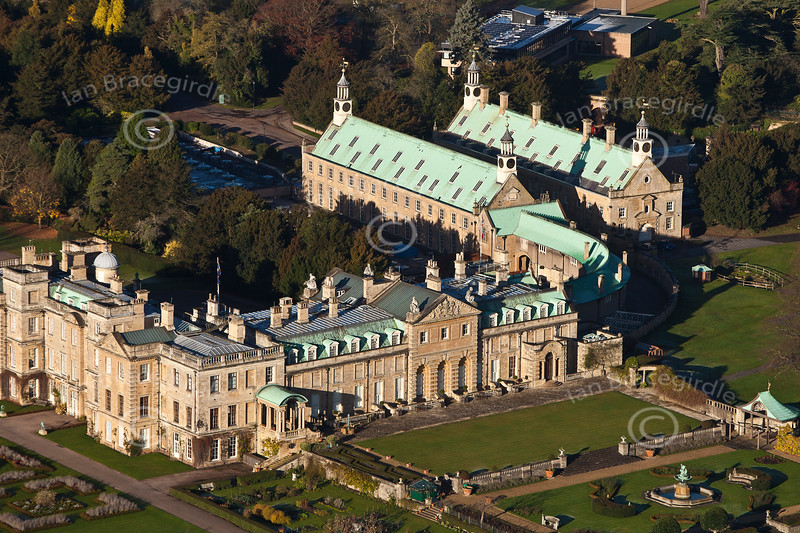 Welbeck Abbey from the air.
