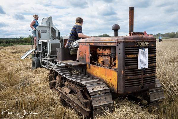 Fowler FD3 towing combine harvester