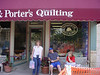 In front of the famour Fon's and Porter's Love of Quilting shop