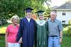 Grandm and Grandpa with the graduates