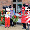 The Princeton Optimist Club wreath sales venue, in front of the Clark House, got a surprise visit Saturday from Mickey and Minnie Mouse.