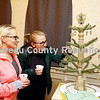 """Cyndi and Emily Olson admire a tree created by Dawn Cimaroli called """"""""Royal Christmas,"""" which was displayed Saturday at the Prairie Arts Center's Christmas Mini-Tree Festival."""