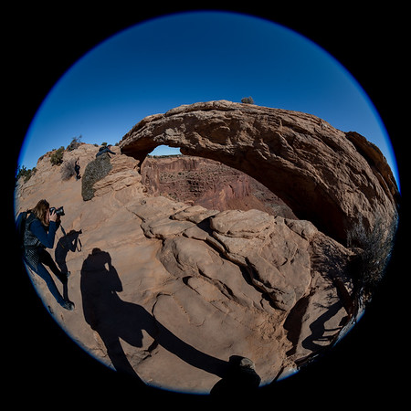 His and Her Shadows, Mesa Arch, Canyonlands National Park