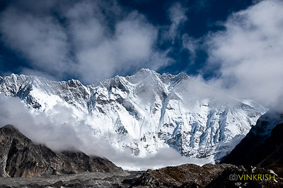 Full view of Lhotse during the day trek to Island Peak base camp