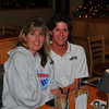 Sherry and Ahelee at dinner after distance day on Friday.