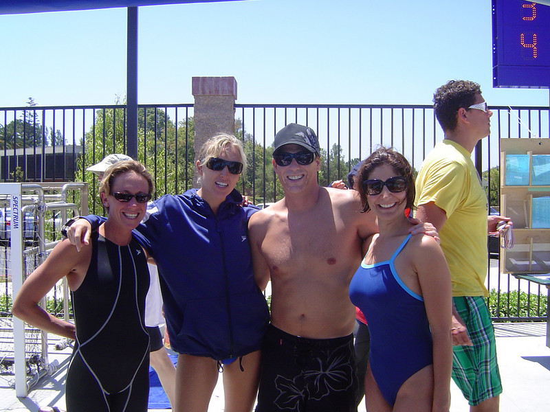 Aaron with some of his Nova girls - Heather, Jenny and Sahar