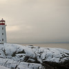 Peggy's Point Lighthouse winter