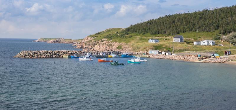 Lobster and fishing village near White Point on Cape Breton, Nova Scotia