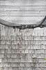 Fishing net drapes lobster shack wall