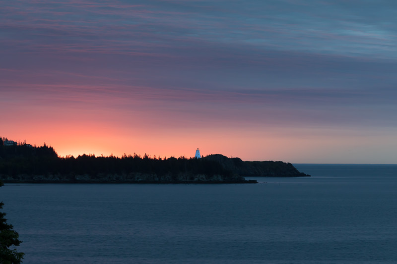 Sunrise view of SwallowTail Lighthouse, from our cottage on Grand Manan Island