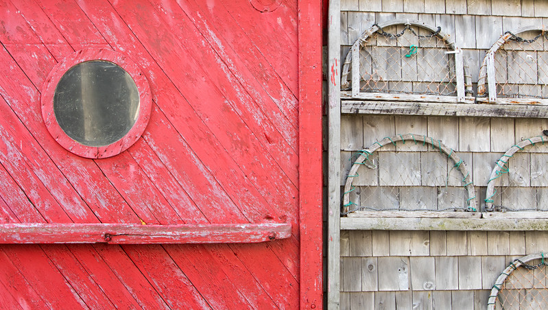 Fishing shack geometry and texture near Grand Harbour on Grand Manan Island