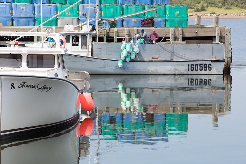 Cheticamp Harbour on Cape Breton