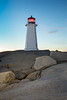 Sunrise at Peggy's Cove Lighthouse , Nova Scotia   ( newly painted a week before this picture taken )