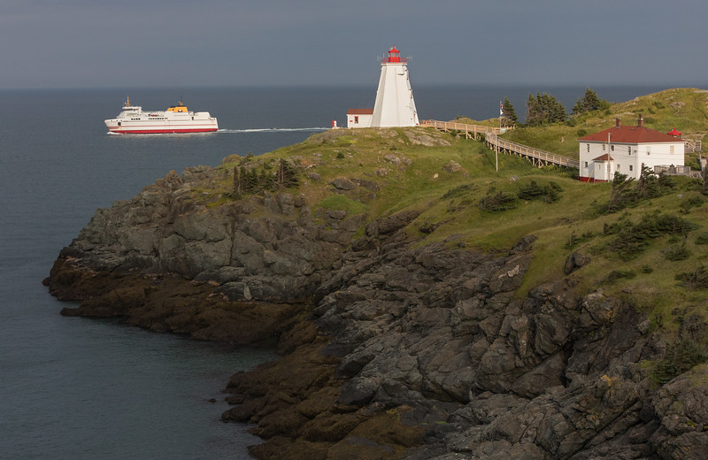 Late afternoon glow on SwallowTail Lighthouse and ferry, Grand Manan Island