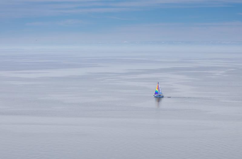 Bay of Fundy solitude off coast of Grand Manan Island, New Brunswick