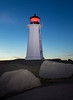 Sunrise at Peggy's Cove Lighthouse , Nova Scotia   ( newly painted a week before this picture taken)