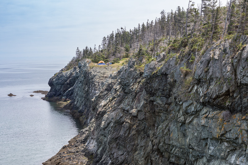 Camping on the cliffs of Grand Manan Island