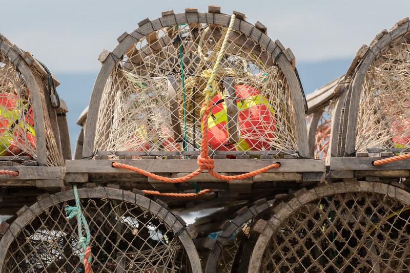 Old Lobster Traps near Englishtown at Cape Breton