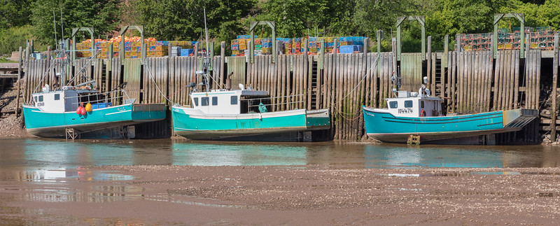 Low Tide near St Marten's on Bay of Fundy - Highest tide fluctuation in the world.