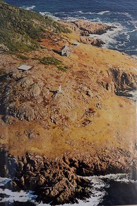 Picture showing original location of lighthouse on St. Paul Island.