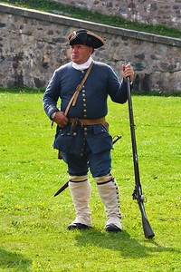 French soldier Fortress of Louisbourg.