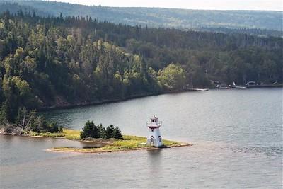 Neil Beach lighthouse, Boularderie island.