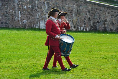 English soldiers Fortress of Louisbourg.