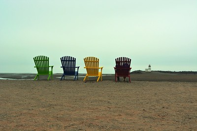 Parrsboro on the Bay of Fundy - low tide.