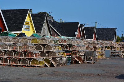 Lobster traps at North Rustico