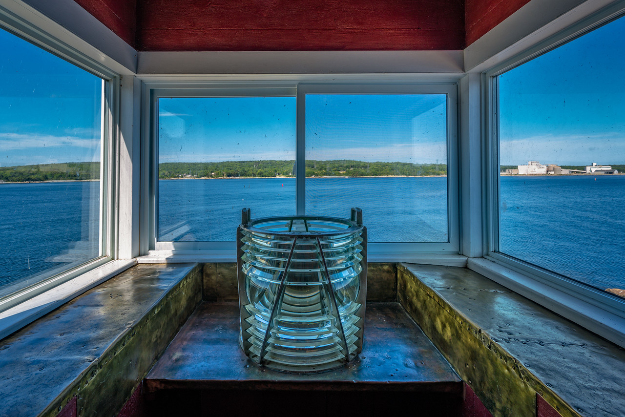 The view from the Liverpool Lighthouse in Nova Scotia