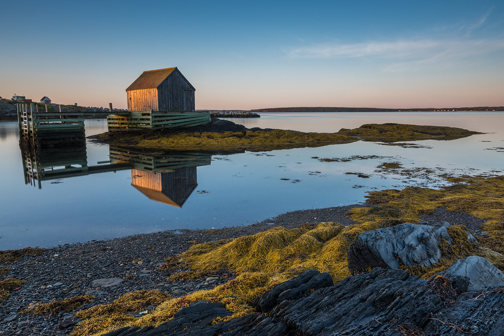 Sunrise in Blue Rocks, Nova Scotia