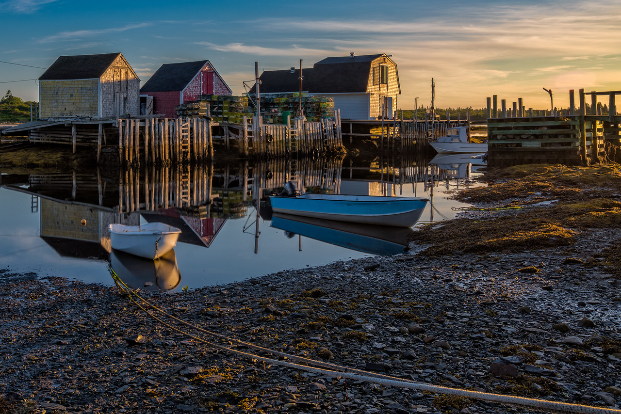 Morning light in Blue Rocks, Nova Scotia