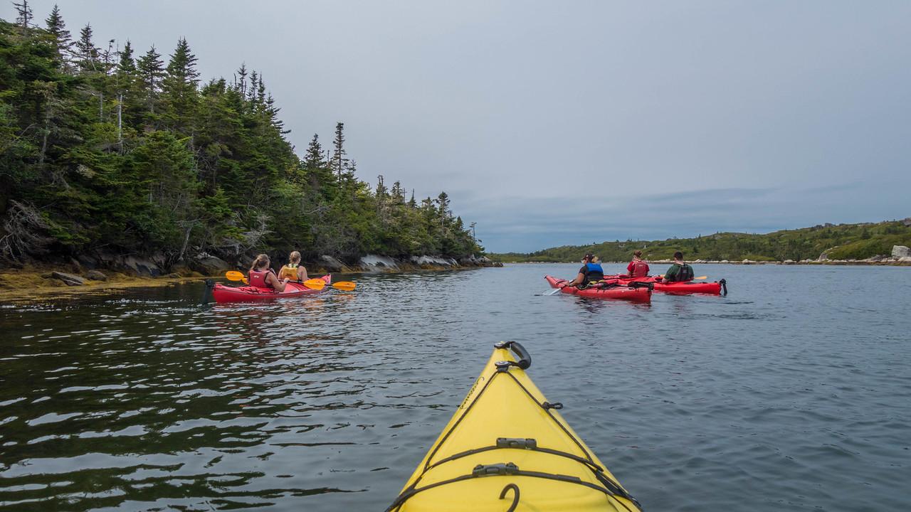 Kayaking on the south coast of Nova Scotia