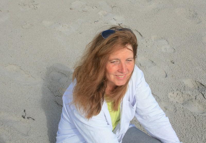 Teri on her favorite beach