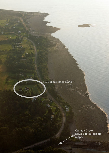 aerial view/ Aug. 2009 ... tide is about half way out<br /> Black Rock has it's name based on the rock seen in the upper right surrounded by water