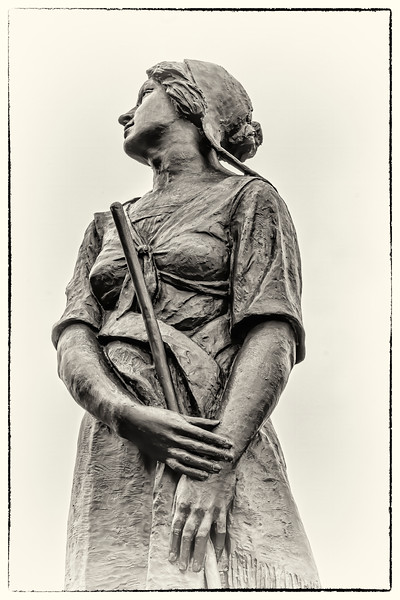 "Bronze sculpture by Louis-Philippe Hébert (1850–1917) - Inspired by ""Evangeline, A Tale of Acadie"" the 1847 epic poem by the American poet Henry Wadsworth Longfellow - Grand Pre' National Historic Site, Grand Pre', NS"