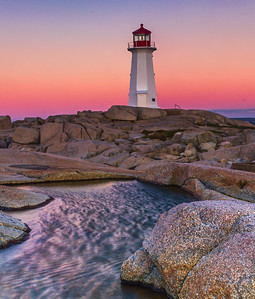Sunrise at Peggy's Point Lighthouse - Nova Scotia, Canada - Cosmas Liu - October 2012