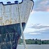 'Tales of Great Ulysses' - Ship's Bow - Wharf, Lunenburg, Nova Scotia
