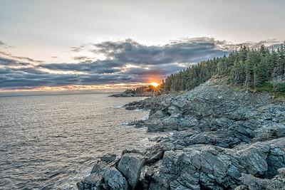 Ingonish Beach Cape Breton. Middle Head Hiking Trail